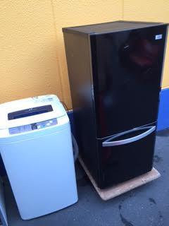 冷蔵庫、洗濯機回収