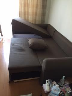 ソファーベッド解体処分